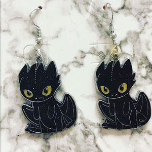 Toothless earrings